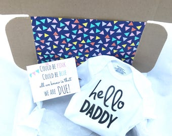 Pregnancy Announcement Box (Hello Daddy)