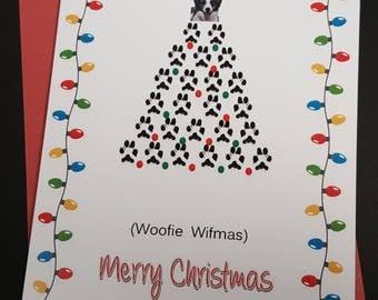 From the dog christmas card, dog christmas card, dog groomer card, veterinarian christmas card