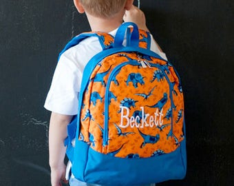 Boys Toddler Back Pack, Boys Preschool Bookbag, Boys Pre K Backpack, Dinosaur Backpack, Dino Backpack, Personalized Backpack, Dino Backpack
