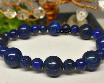 Wellness in Lapis Lazuli 6mmx2 and 10 mm bracelet
