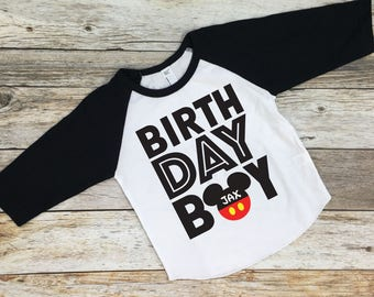 Mickey Mouse Birthday Shirt. Birthday Boy Mickey Mouse Shirt. Disney birthday shirt. Disneyland Birthday. Mickey Mouse 1st birthday shirt.