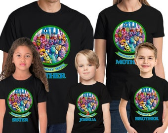 Monster University Personalized Name & Age  Custom Monster University Birthday Shirt Family Birthday Shirts