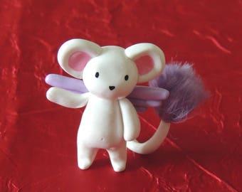 Teddy bear figurine magical kawaii Fimo