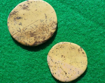 OrangeLizardite set of two (one large, one small) golf ball markers