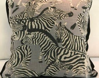 Zebra Print, throw pillow, decorative pillow, zebra print, interior design, home decor