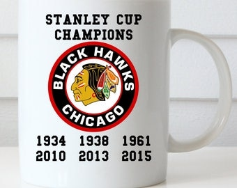 Chicago Blackhawks Mug, Blackhawks Coffee Mug, Stanley Cup Coffee Mug