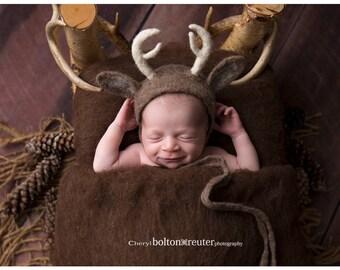Newborn Deer Bonnet-FREE SHIPPING