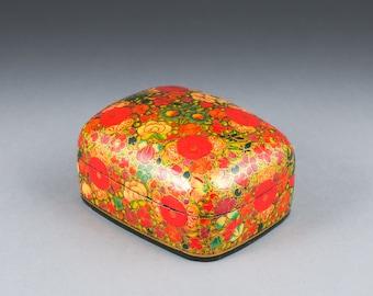 Vintage Paper Mache Box/ Trinket Box/ Jewelry/ Stash Box
