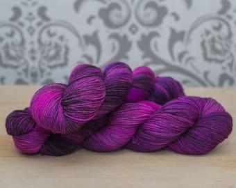 Hand dyed sock yarn-Voodoo Queen