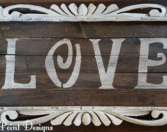 Vintage Love Sign, Valentine's Day Gift, Love Gift, Love Decor, Valentine's Day Wall Art, Love Signs, Love Art, Custom Signs
