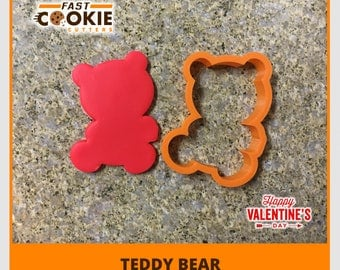 Teddy Bear Heart Cookie Cutter