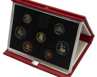 1988 Royal Mint Proof Set Red Leather Deluxe