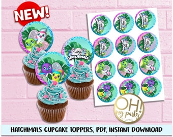Hatchimals cupcake toppers, Hatchimals Birthday ,Hatchimal Party Supplies, Hatchimal printable,Hatchimals decorations, hatchimals,hatchimal