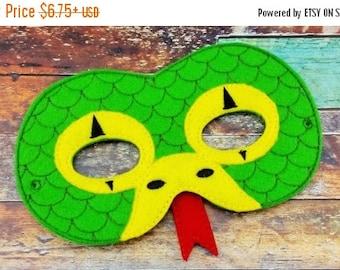 Summer Sale Snake Mask - Dress Up - Pretend Play - Halloween