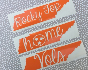 Tennessee Vols Decal, Rocky Top Tennessee Vinyl Decal, Tennessee Flag Decal, Yeti Decal, Car Decal, Phone Decal, Laptop Decal, Tumbler Decal