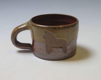 Dala Horse and Heart Mug
