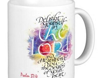 Psalm 37:4 christian mug bible verse
