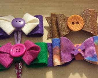 Decorative hair clips