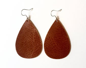 Saddle Leather Earrings