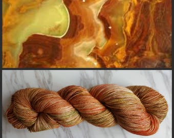 Hand Dyed Yarn, Merino, Nylon, Stellina, Sparkle, Perfect for Special Socks, Shawls and Lightweight Accessories - Onyx
