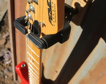 Guitar Hanger HOT TIN ROOF- Reclaimed Corrugated Galvanized Panel / Hercules Wall Hanger Guitar Wall Mount