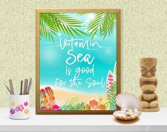 Vitamin Sea Is Good For The Soul and indeed it is. I love the sea, but don't live near one. With this cute print, I can feel the breeze.