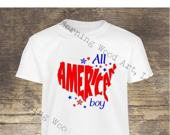 All American boy, girl shirt
