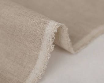 Japanese Fabric |  Linen shearing fabric |  solid color - Beige  plain color