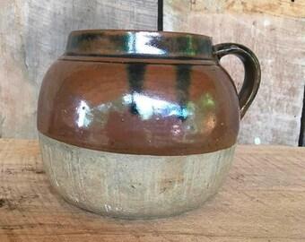 Brown Crock Bowl Etsy