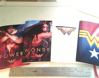 INSTANT DOWNLOAD Wonder Woman Super Pack of 4 DIY Notebooks Printable Download
