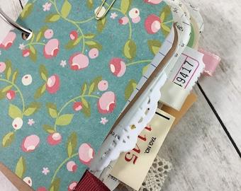 SALE*Mixed Paper Mini Journal, Mini Journal, Mixed Paper Journal, Journal, Smash Book, Art Book, Junk Journal, Mixed Paper Junk Journal j342