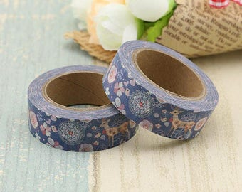 Pretty Deer Themed Washi Masking Paper Planner Tape