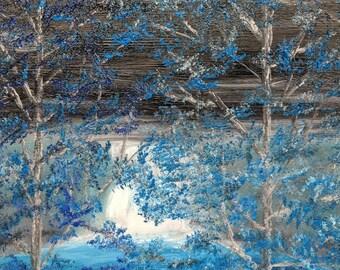 Night Falls 11x14 Oil On Canvas. Mini series LS3