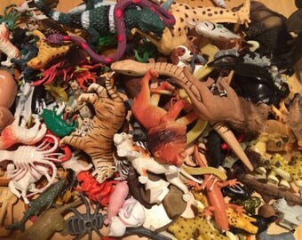 175 Animals to Upcycle, Reptiles, Birds, farm animals, jungle animals, insects, craft supplies, upcycle materials, toy animals