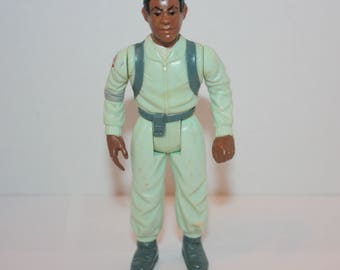 Vintage Real Ghostbusters Fright Features Winston Zeddmore Loose Action Figure 1987 Kenner Original