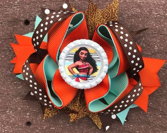 Moana bow Moana bows, Moana bow, Moana headband, Moana birthday bow, Moana birthday, Disney Moana bow Disney bows Moana birthday