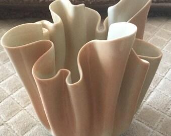 Carol Barklay Pottery handkerchief vase 1971