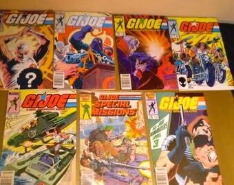 Vintage GI JOE Comic Book Lot  ****VINTAGE******* Marvel Comics