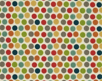 Irregular Cut!! PRE-WASHED Organic KNIT Fabric, Dottie Multi 100% Cotton Organic Knit, Birch Fabrics