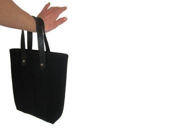 HERMES Paris 100% wool leather bag authentic Vintage