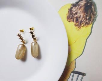 Star jelly beads earrings