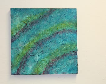 Abstract Acrylic Wall Painting on Wrapped Canvas- Infinity