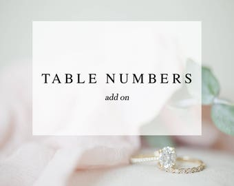 Table Numbers Add On - Made to Match