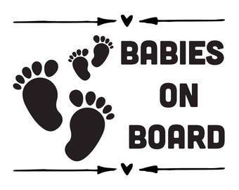 Babies On Board Vinyl Sticker | Car Decal