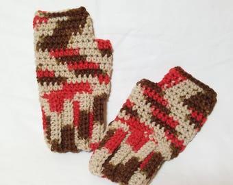 Crochet Fall Fingerless Gloves, Fits M/L, Fall Gloves, Crochet Gloves, Fingerless Gloves, Unisex Gloves, Winter Gloves, Fall Accessories