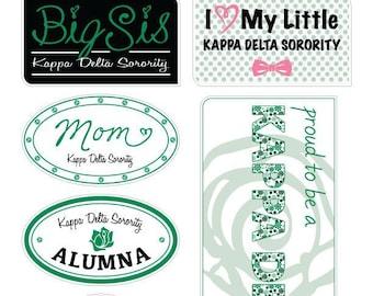 "KAPPA DELTA ""Family"" Sticker Sheet"