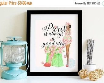 25 Off Sale Printable Art Paris Is Always A Good Idea Teen Room Decor
