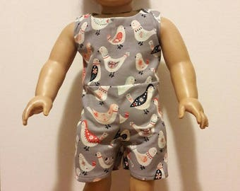 "Handmade 18"" Doll Clothes- Jumper & Shoes fits American Girl Doll"