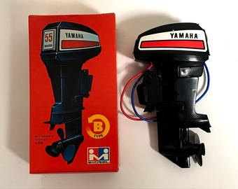 MITSUWA YAMAHA 55 Toy Outboard motor Type B Left Handed Rotation Made in Japan Rare Free shipping