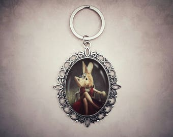 Bunny Gifts, Rabbit Gifts, Bunny Keychain, Rabbit Keyring, Quirky Gifts, Unique Gifts, Easter Gifts, Stocking Stuffers, Animal Keychain